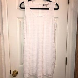 White lace sleeveless dress NWOT